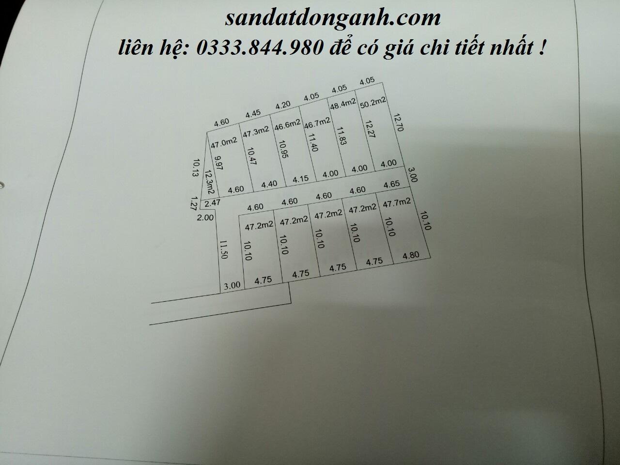 [Hot]: Chỉ với từ 399 sở hữu ngay 46m đất nền thổ cư Đông Anh !!!